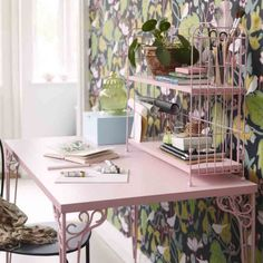 Who said a desk can't be girlie? Falkhojden-desk-£55ikea.com.jpg