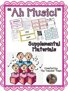 """Ah Music! ~ Supplemental Materials : Journeys aligned! This package contains a variety of activities from the story """"Ah Music!"""" to teach, re-teach, practice or assess the various lessons taught. Vocabulary and writing are emphasized and an Essential Question is included! $"""