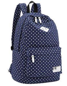 26f4987f0c2b Backpack Bags For Unisex Canvas Backpack Polka Dot Girls Boys School  Shoulder Bag Travel Rucksacks mochila feminina