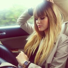 This look is my ULTIMATE goal-- IN LOVE!! Bangs + long straight hair - ombre