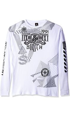 3f27efaa3e Southpole Men's Big and Tall Long Sleeve Hd, Screen Print Graphic Tee Logo:  Big and tall long sleeve crewneck all over hd, screen print graphic tee  with ...