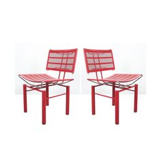 Hans Ullrich Bitsch Two Pairs of Red Chairs Series 8600