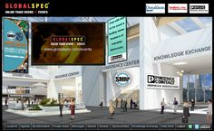 Online Trade-Show lobby presented by GlobalSpec and SMRP.