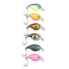 Alcateny(TM) Mini Plastic Fishing Lure 2G/28MM con solo gancho de metal (color al azar) YLR-MC01E