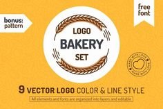 Bakery shop logo set by mira on @creativemarket