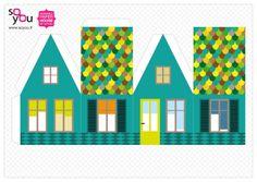 #Paper #Toy #House par Solange ABAZIOU pour Le Quai Angers - Paper House – Maison de papier – Modèle 6 - http://soyou.fr/