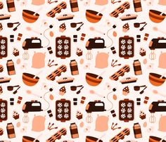 (ironic that a person named Kelsey designed this pattern!) Baking Time fabric by kelseysdesigns on Spoonflower - custom fabric