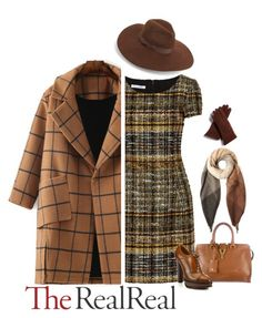 """Fall Style With The RealReal: Contest Entry"" by madamebluevelevet ❤ liked on Polyvore featuring Oscar de la Renta, Yves Saint Laurent, Ralph Lauren, Lack of Color, Paul Smith and FRR"