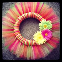 Hey, I found this really awesome Etsy listing at https://www.etsy.com/listing/181230067/summer-tulle-wreath-12-inch-sale