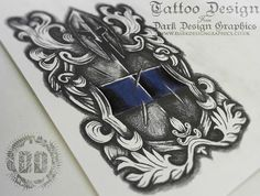 Warrior Shield Crest Tattoo Design from Dark Design Graphics watch its design from beginning to end in this Time Lapse Video http://darkdesigngraphics.co.uk/tattoo-designs/shield-crest-tattoo-design/