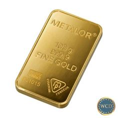 100 Gram 24 Karat Gold Bar (3.215 Troy oz)