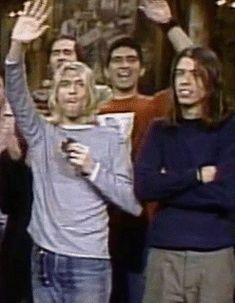 The end of Saturday Night Live, Nirvana was the musical guest.  #Kurt Cobain