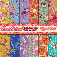 Digital Paper Pack Victorian French Floral by DigitalMagicShop, $2.50
