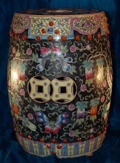 Antique Chinese Garden Stool | EBay