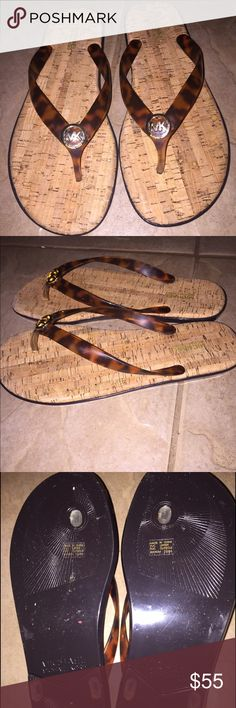 Michael Kors Jet Set Flip Flops Size 9 , 100% Authentic Michael Kors Jet Set Flip Flops, Brand New, I ship same day, pet free smoke free home Michael Kors Shoes Sandals