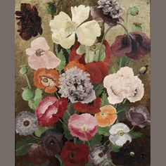 Sir Cedric Morris (British, 1889-1982) Poppies 68.6 x 55.8 cm. (27 x 22 in.)
