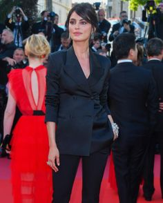 """ab605f077513c ERMANNO SCERVINO on Instagram  """"Catrinel Marlon ( catrinelmarlon) in a   ErmannoScervino black double-breasted tailleur walking on the red carpet  of the ..."""