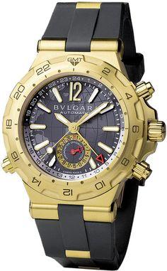 dp42c14gvdgmt Bulgari Diagono Professional GMT 42mm Mens Watch