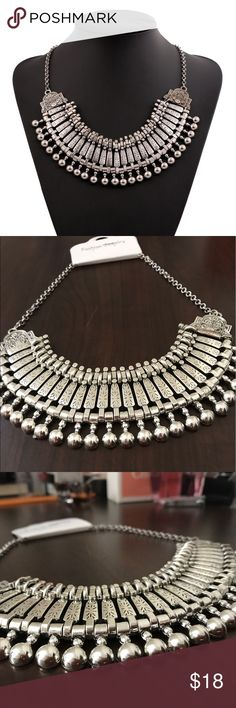 Statement Necklace Beautiful Silver Bohemian Statement Necklace. Absolutely new!! Never worn. Jewelry Necklaces