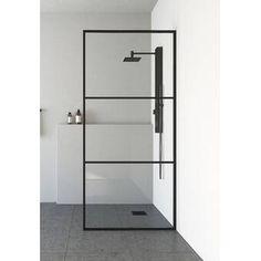 Meridian W x H Framed Fixed Glass Panel Glass Shower Panels, Frameless Shower Doors, Glass Panels, Bathtub Doors, Shower Screens, Nogent Sur Marne, Bathroom Interior, Bathroom Ideas, Bathroom Inspiration
