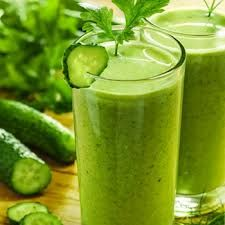 Super Detox Green juice: 2 to 3 celery stalks, leaves removed  1 small cucumber 2 kale leaves Handful of fresh parsley 1 small lemon or lime, peeled  1 pear or apple Juice all of the ingredients and sip slowly. For an extra health kick, stir in barley grass, wheatgrass, and/or spirulina powder.