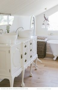 I've always wanted to turn an old buffet into a sink...