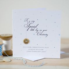 personalised christening or baptism card by button box cards | notonthehighstreet.com