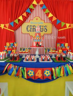 carnival backdrop circus party banner poster signage