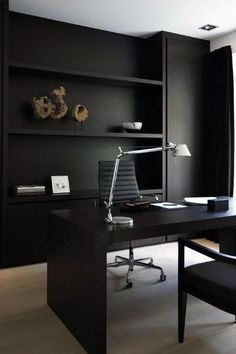 Inspiration Home Office Design Ideas. Hence, the need for home offices.Whether you are intending on adding a home office or renovating an old space into one, right here are some brilliant home office design ideas to assist you begin. Modern Office Design, Office Interior Design, Home Office Decor, Office Interiors, Modern House Design, Home Design, Home Decor, Office Designs, Design Ideas