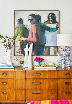 Rich wood, original art, funky accessories.