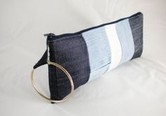 Flash SALE limited time only!!!!!!! Recycled Denim wristlet clutch