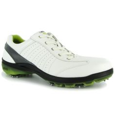 Ecco Cool III GTX Premier Golf Cleats Mens White Leather - ONLY $179.99