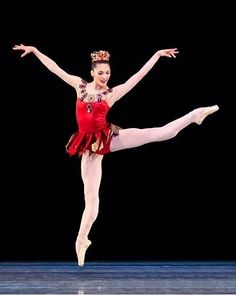 Beckanne Sisk from the show Breaking Pointe in Rubies