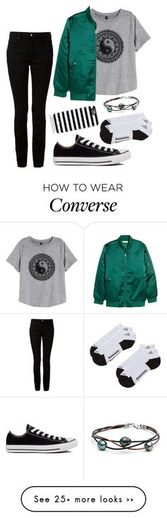 """Untitled #1499"" by moria801 on Polyvore featuring H&M, Alexander Wang, Converse, adidas and Kate Spade"