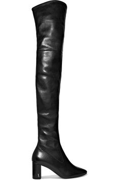Heel measures approximately 70mm/ 3 inches Black leather Concealed zip fastening along side Made in Italy