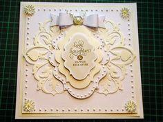 60. Cardmaking Tutorial - Ivory & White Anna Griffin Fretwork Fancy Wedding Card - YouTube