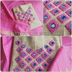 Call /whatsApp 9035330901 to customise. Embroidery On Kurtis, Hand Embroidery Dress, Kurti Embroidery Design, Embroidery Neck Designs, Churidhar Designs, Kutch Work Designs, Dress Neck Designs, Blouse Neck Designs, Mirror Work Blouse Design