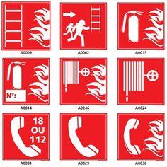 Pictogrammes sécurité prévention incendie