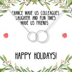 Christmas Gift for Coworker: Best Present, Necklace, Jewelry, Holiday, Gift Idea, Office Gift Exchange, Secret Santa, Colleague, 2 Asymmetrical Circles, Silver Secret Santa Christmas Gifts, Cheap Christmas Gifts, Christmas Gifts For Coworkers, Secret Santa Gifts, Diy Gifts To Sell, Diy Gifts For Friends, Gifts For Boys, Retirement Gifts For Women, Retirement Ideas