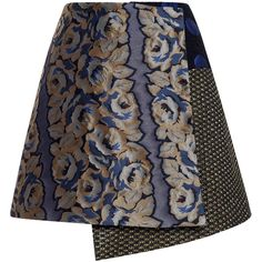 Suno Asymmetrical Wrap Mini Skirt ($495) ❤ liked on Polyvore featuring skirts, mini skirts, mini skirt, asymmetrical mini skirt, short skirts, wrap skirt and asymmetrical skirt