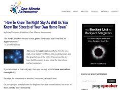 Binocular Astronomy – One Minute Astronomer