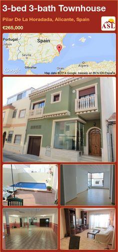 3-bed 3-bath Townhouse in Pilar De La Horadada, Alicante, Spain ►€265,000 #PropertyForSaleInSpain