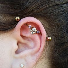 Industrial piercing I performed today featuring titanium jewelry from anatometal