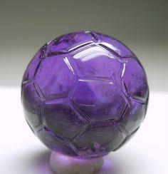 Amethyst Soccer Ball by AllofHerStones on Etsy