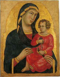 Madonna col Bambino. Inizi del Trecento.  Museo Nazionale  di San Matteo.