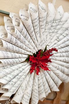 Music sheet wreath. So creative