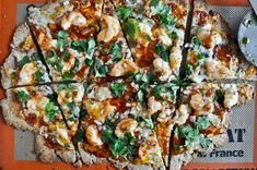 how sweet it is - whole wheat bbq shrimp flatbreads.