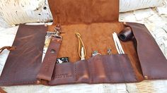 Amazon.com: Aficionado Leather Pipe & Tobacco Pouch: Handmade Wooden Smoking Pipes, Tobacco Pipe Smoking, Tobacco Pipes, Diy Leather Projects, Diy Craft Projects, Leather Pouch, Tan Leather, Pipes And Cigars, Leather Workshop