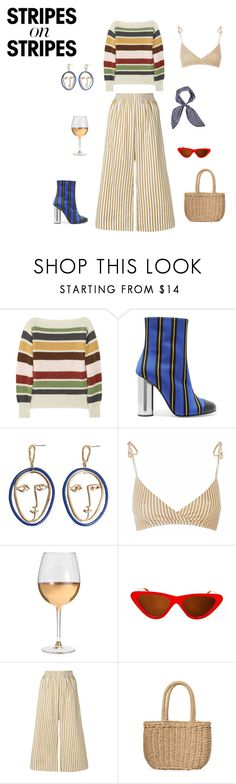 """""""Parisian"""" by eleonore-plot on Polyvore featuring mode, donni charm, MHL by Margaret Howell, Marco de Vincenzo, MANGO, Marc Blackwell, Topshop, Joseph, stripesonstripes et PatternChallenge"""