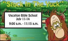 Stock in the yuck, Vinyl Banners, AllstateBanners.com Vacation Bible School, Vinyl Banners, Marketing Materials, Comic Books, Cartoons, Comics, Comic Book, Sunday School, Graphic Novels